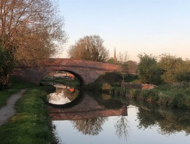 Bridge reflection Braunston 2018 Geoff